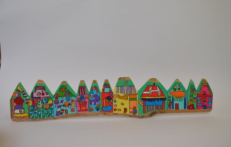Huizenrij Atelier Warempel
