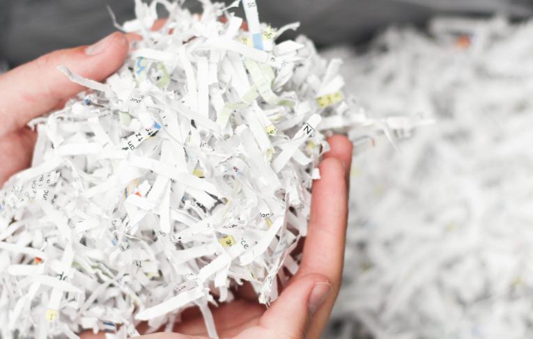 Versnipperd papier